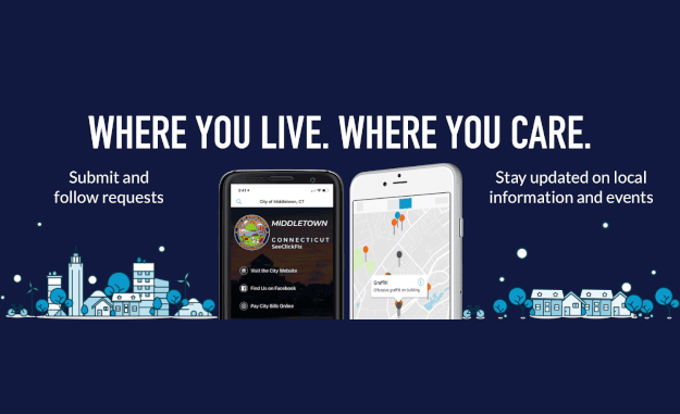 "Promotion for SeeClickFix with text ""Where you live. Where you care."""